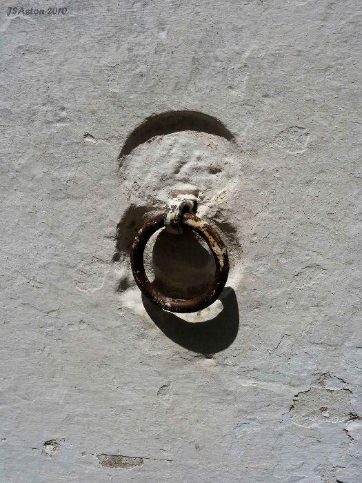 Metal Ring in Wall.