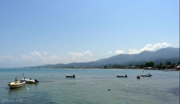 Boats at Roda Beach...