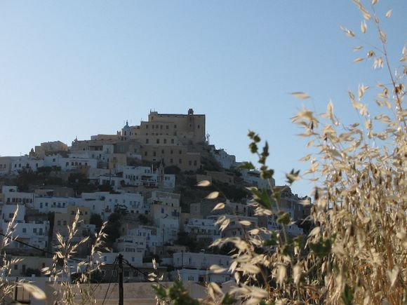 Ano Syros and the evening sun
