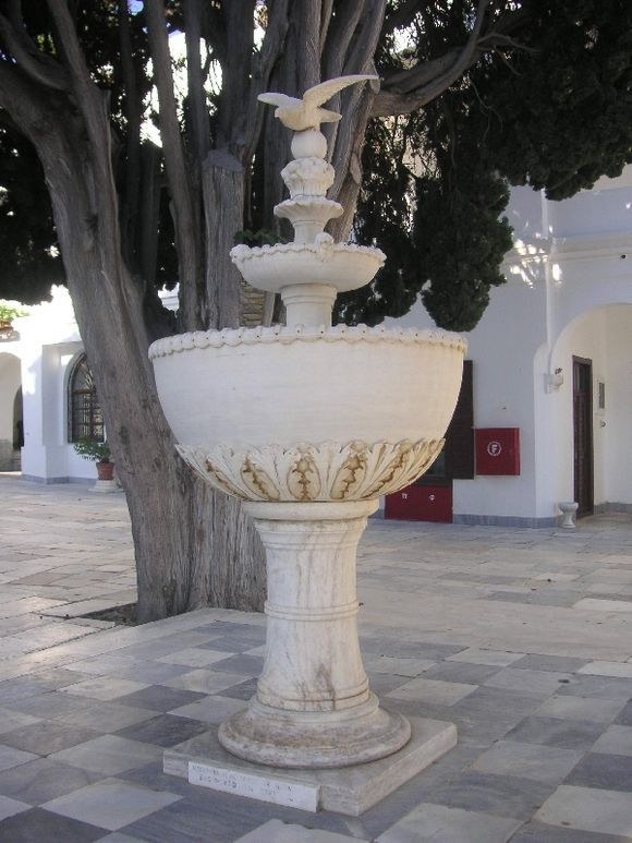 In the churchyard of the Panayia of Tinos