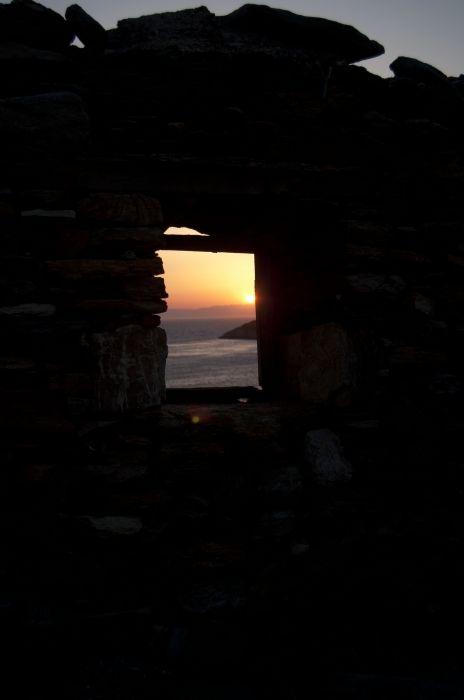 Sunset amid the ruins of Marathi