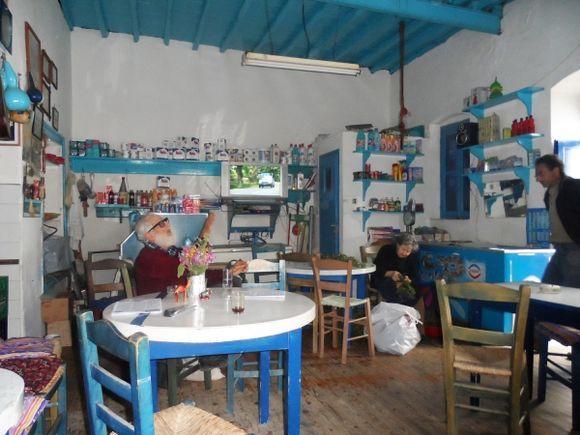 Traditional,mini market,coffee shop,taverna,during winter.....