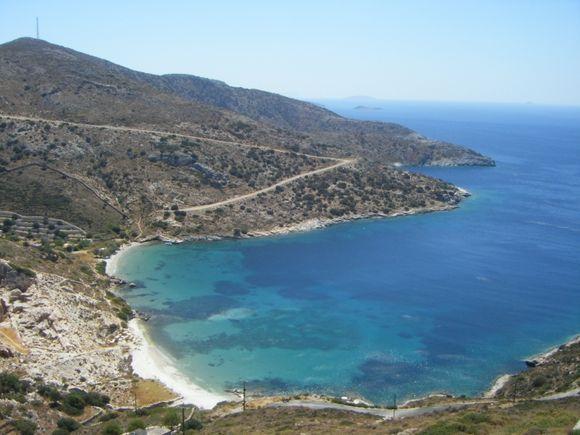 Deserted beach Fourni