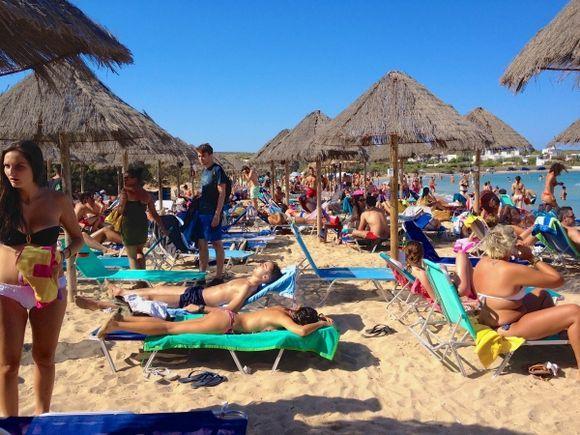 crowded beach again