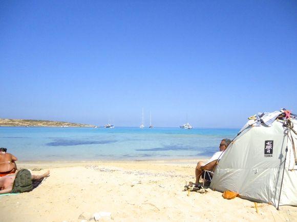 tent on Pori beach