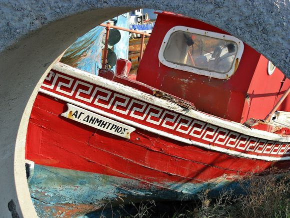 23-09-2008 Skiathos: Old fishing boat