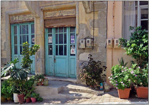 12-09-2019 Ikaria: Evdilos .........Olde shop in Evdilos