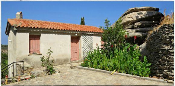 14-09-2020 Ikaria: Houses of  Monks by monastey Moni Theoktistis