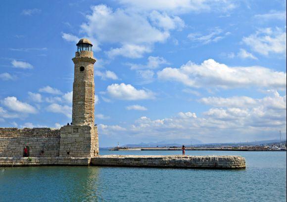 09-09-2021 Rethymno: The lighthouse in Rethymno