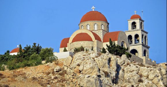 30-08-2020 Kalymnos: Pothia ......The beautiful monastery Agios Savvas