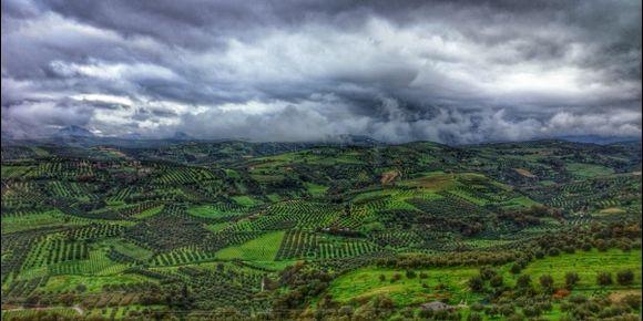 Storms on New Year's Day 2015. Pendamodi, Crete.