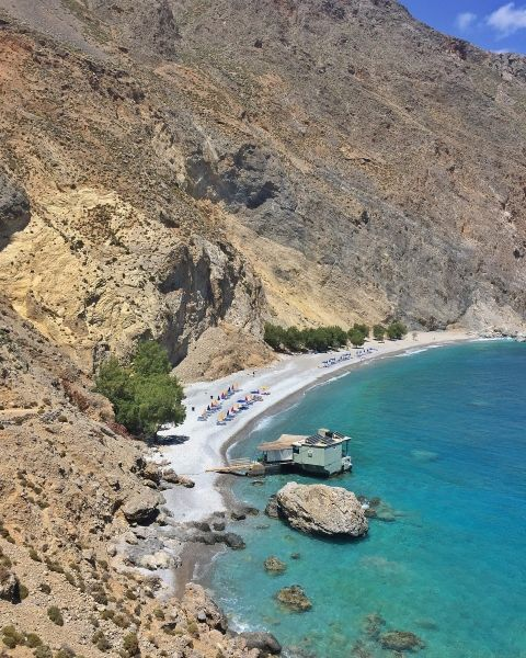 Freshwater beach. Halfway between Hora Sfakion and Loutro.