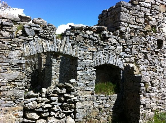 Old stone house with nice arches
