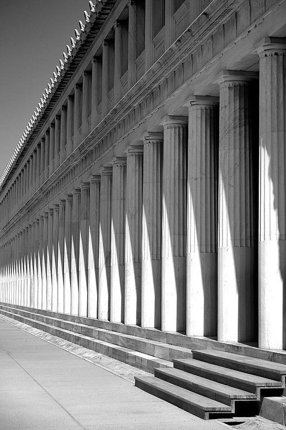 The columns of the Stoa of Attalos