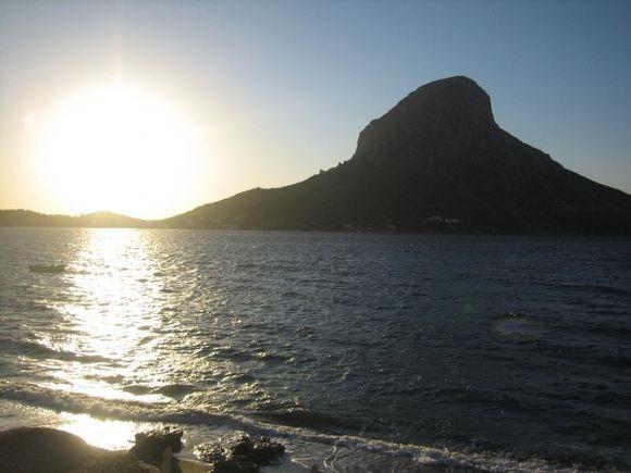 Telendos sunset from Kalymnos (Myrties)