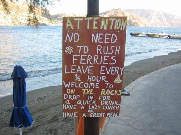 Telendos, sage advice