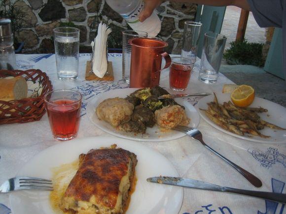 Telendos landscape before gastronomy battle