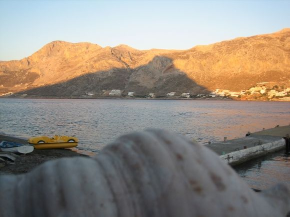 Telendos, the islet shadow on Kalymnos, the shape of shell is well
