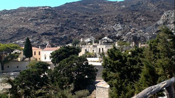 at the monastery Moni Piso Preveri