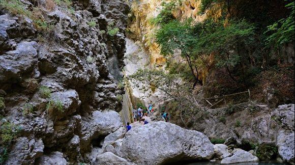 Waterfall close to Nidri