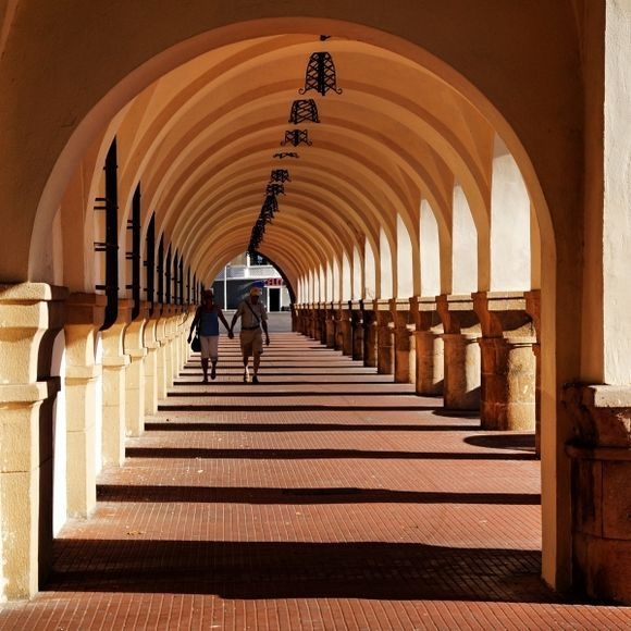 Rhodes Town - arches and love