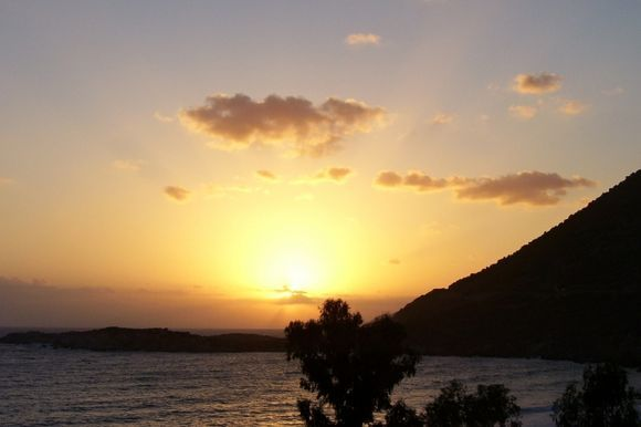 sunrise on the beach in Bali