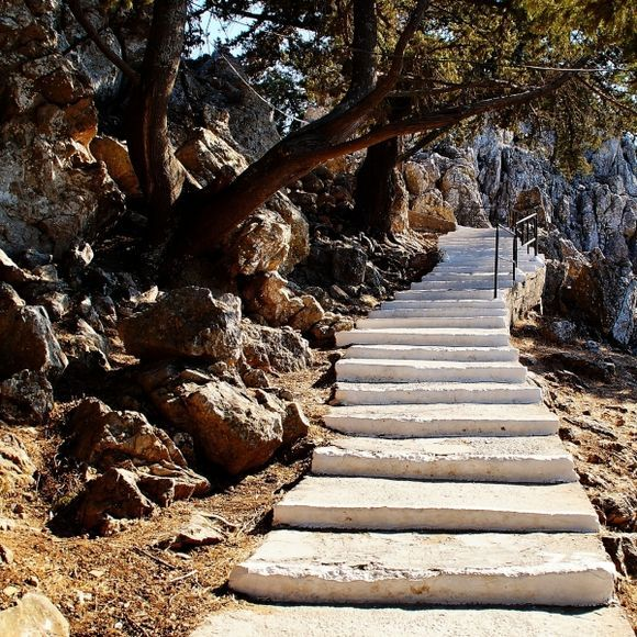 The stairs to Panagia Tsambika