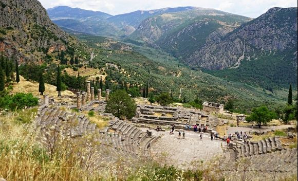 Delphi, the remains of the original historic site.