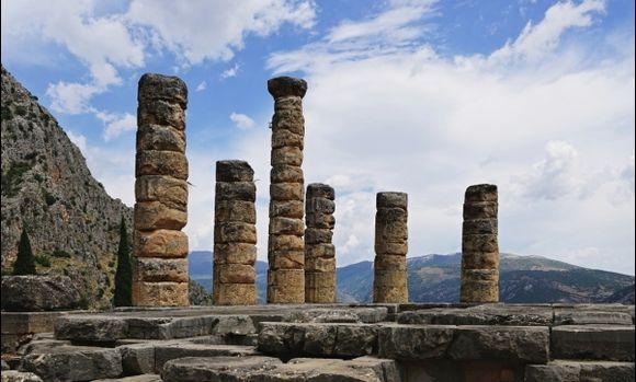 Delphi, the remains of the original historic site.