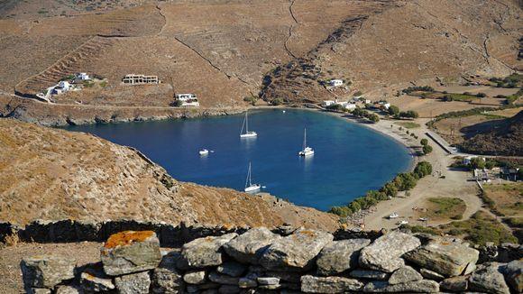 Beautiful  Apokrousi beach. View from Vryokastro.