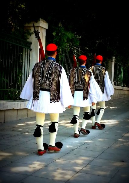 Marching Greek Soldiers
