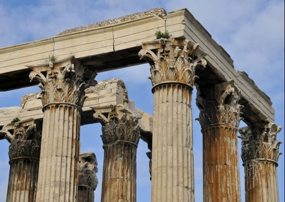 Corinthian columns of the Temple of Olympian Zeus.