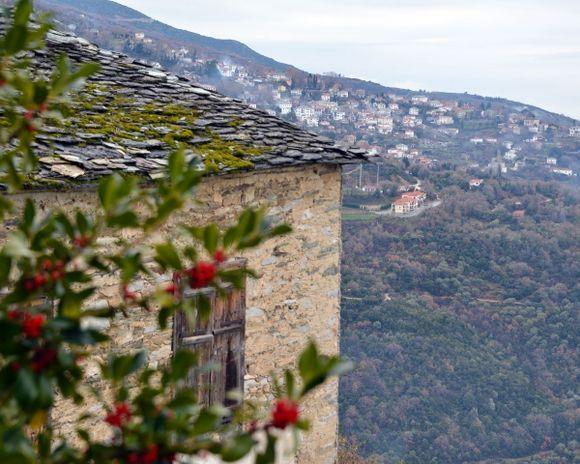 A view of Portaria shot from Makrinitsa village.