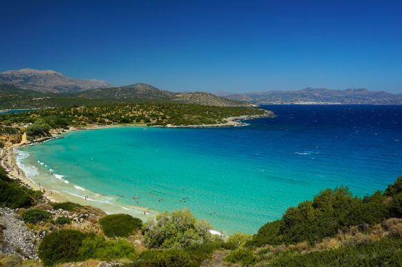White sand and blue water equal turquoise beauty! Voulisma Beach is a must if you are in the area of Agios Nikolaos.