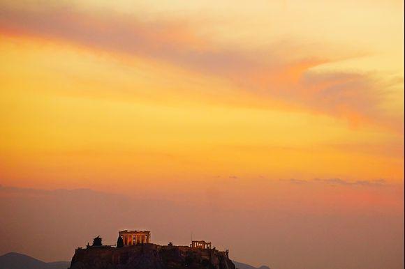 Acropolis after sunset