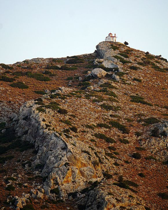 A church on a hill near Ierapetra