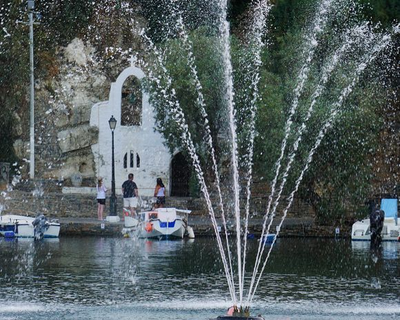 The Fisherman's Church at Lake Voulismeni, Agios Nikolaos is dedicated to the safety of the fishermen of the lake.