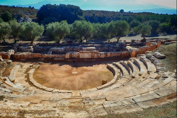 The ancient theatre of Aptera