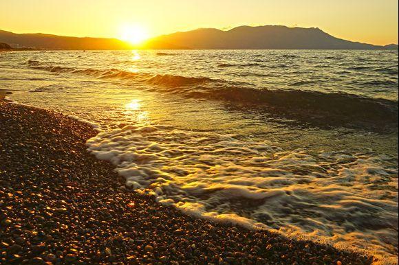 Sunset from Korfalona beach.
