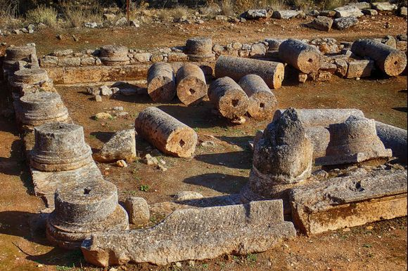 Ruins of a Roman villa in Aptera with peristyle yard