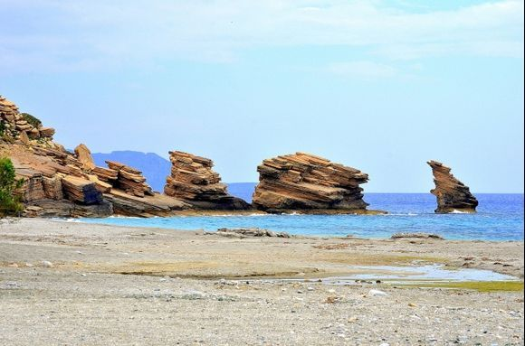 The three rocks of Triopetra