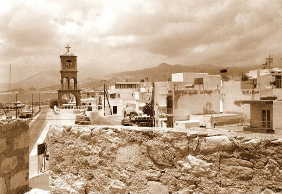 This is an older picture of Ierapetra, the bell tower broke down years ago (sorry for my old camera!)