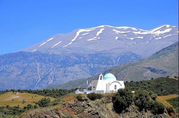 Psiloritis and Church of Agios Ilias