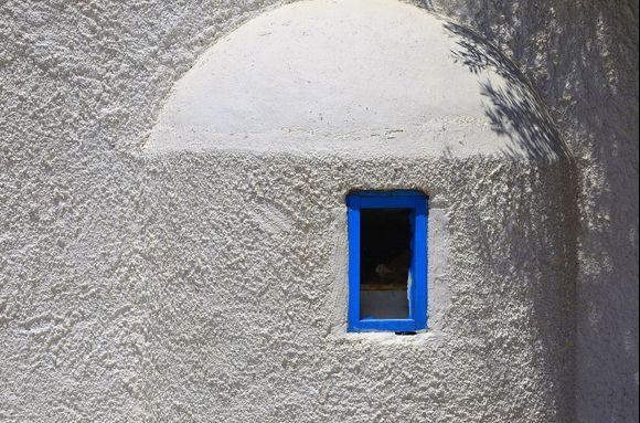 Blue and White - Little church near Paleochora
