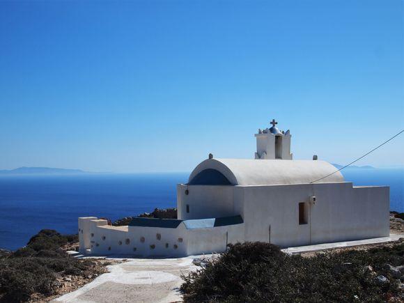 Agia Sophia (Saint Wisdom) overlooking Amorgos island.