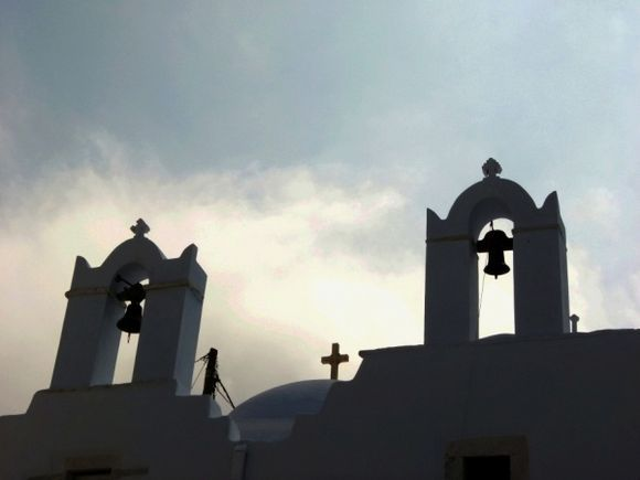 Bells and crosses in the early morning light