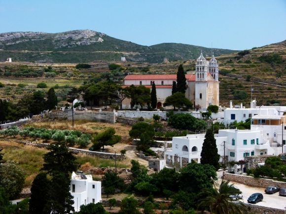 View to the beautiful church of Agia Triada!