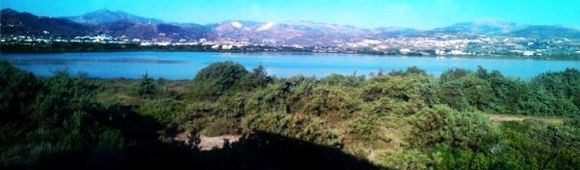 around the salt lake..