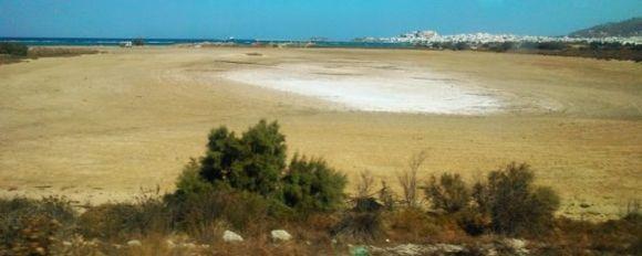 Salty beach....
