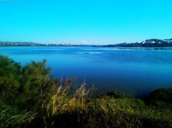 blue water salt lake...